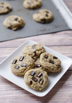Vegan Peanut Butter Coconut Chocolate Chip Cookies from The Cake Merchant blog