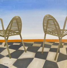 When in Nice, oil on canvas, 50cm x 50cm, August 2020.  #art #smallart #nicefrance #frenchriviera #chairpainting #southernvibes #dianadzene #oilpainting #francepainting #saatchiartist #loveart Painted Chairs, Painted Furniture, Nice Furniture, Mediterranean Art, Oil On Canvas, Canvas Art, Original Art, Original Paintings, City Painting