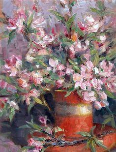 """""""Apple Blossom Tea Time"""" © Julie Ford Oliver"""