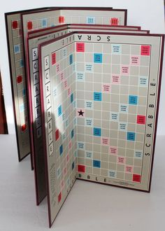 Lot of 5 Scrabble Game Boards Only Crafts Framing Scrapbooking Replacement Arts