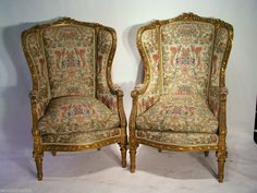 Antique Pair Of LOUIS XVI BERGERE CHAIRS MUSEUM QUALITY.WGoverment /Papers #LOUIEXVI