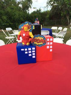Superhero Theme Centerpieces (Iron man)