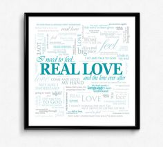 Feel by Robbie Williams square lyric poster print