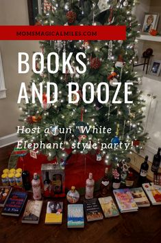 Hosting a book club holiday party and need to liven it up? Turn it into a Books and Booze White Elephant Party! Everyone goes home with two things that will keep them a little warmer on these cold winter nights! Christmas Books, Winter Christmas, All Things Christmas, Christmas Holidays, Christmas Crafts, Family Christmas Gifts, Happy Holidays, Merry Christmas, Christmas Party Games