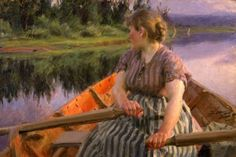 """Midnatt"" (Midnight) by Anders Zorn. This hangs at Mora at the artist' studio.  It is a very large and very impressive work.  A genius, truly.  JC"