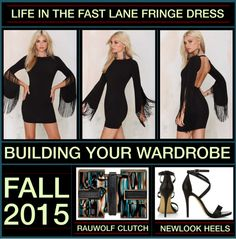 Building Your Wardrobe For Fall 2015 - Fringe by latoyacl featuring black handbags
