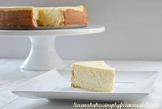 Tall And Creamy Lemon Cheesecake (serenabakessimplyfromscratch.com)