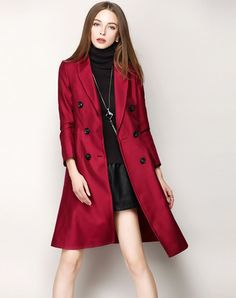 Check the details and price of this Red Vintage Double Breast Trench Coat (Red, Nexiia) and buy it online. VIPme.com offers high-quality Coats at affordable price.