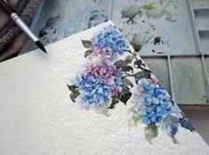 Hydrangea by Tsutsuji-Sakai, watercolour
