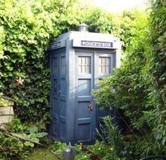 Sara this is for you! :) All The Garden Sheds Of Your Wildest, Quaintest Dreams  PLEASE! I want a pretty landscaped garden with lots of green and flowers and then you come around the corner and BAM!!  My nerdiness hits!!