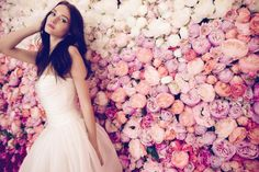 The Daalarna Flower Collection for Spring 2016 is a fabulously feminine bridal collection full of lace, tulle, pearls and pretty watercolour florals. High Street Wedding Dresses, Second Wedding Dresses, Gorgeous Wedding Dress, Wedding Dress Shopping, Dream Wedding, Vow Renewal Dress, Monsoon Wedding, Asos Wedding, Boho Gown