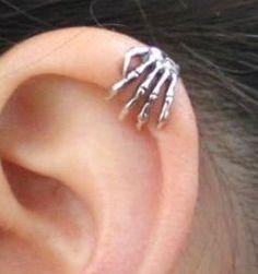 skeleton ear cuff