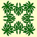 Hawaiian Quilt Pattern: manako (mango)