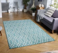 Our Outdoor range of rugs are constructed from man-made fibres making them durable, waterproof and easy to clean - ideal for patios and porches. Outdoor Carpet, Outdoor Rugs, Large Rugs, Small Rugs, Turquoise Rug, Trellis Rug, Rug Size Guide, Rug Shapes, Area Rug Sizes