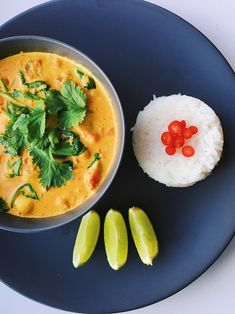Indian yellow curry with chickpeas and chili