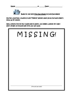 If you're reading First Day Jitters on the first day of school...have students illustrate a
