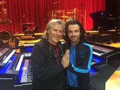 Yanni @Yanni Yanni and his World Class, Legendary Drummer Charlie Adams.  The friendship that is lasting a lifetime!