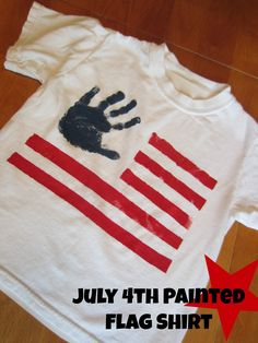 Relentlessly Fun, Deceptively Educational: July 4th Painted Flag Shirt