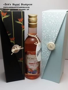 Stampin up! Drop sided wine/Gift box, Fathers Day Gift