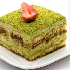 Matcha Green Tea Tiramisu original source of… Matcha Pound Cake Recipe, Pound Cake Recipes, Green Tea Recipes, Sweet Recipes, Tea Cakes, Food Cakes, No Bake Desserts, Dessert Recipes, Matcha Dessert