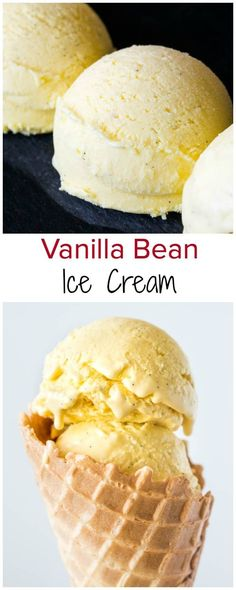 Velvety smooth, creamy and rich homemade ice cream studded with tiny black vanilla beans. You won't believe how easy it is to make ice cream from scratch!