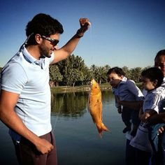 """Nasser HEK: """"Fly fishing at the lake. Showing Hamad and Mohammed how its done"""" Performance Evaluation, Sheikh Mohammed, Young Prince, My Prince Charming, Nhk, Fly Fishing, Dubai, Dads, Mens Sunglasses"""