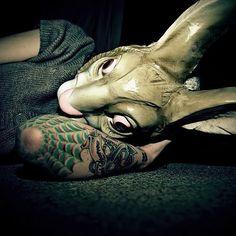 Bunny mask // tattoo