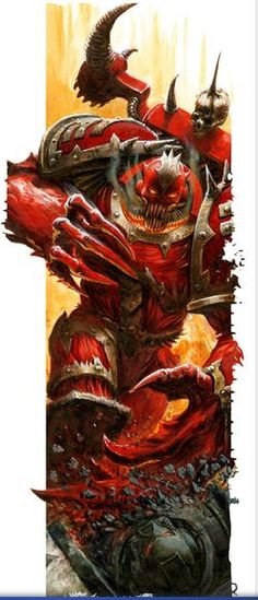 "The Possessed, also known as Possessed Chaos Space Marines, and ""The Secondborn"" are those Chaos Space Marines who have forsaken their humanity and given up their souls and bodies to the Chaos Gods. Their body has been possessed by a Chaos daemon, who keeps its human shell alive using the energy of the Warp. The Possessed feel no pain and their bodies can be warped and mutated to suit the purpose or whim of the daemon that inhabits them."