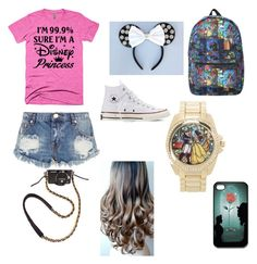 """""""Disney"""" by emshort on Polyvore featuring Torrid, Disney, CO, Converse, SFK and One Teaspoon"""