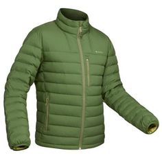 Geacă pufTrekking la Munte Trek500 verde Bărbați FORCLAZ - Decathlon.ro Trekking, Duvet, Herren Style, Hiking Jacket, Herren Outfit, Men Hiking, Mode Online, Cold Weather, Olive Green
