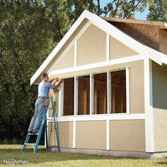 Shed and summer house plans shed plans with porch,pictures of wood shed designs calf shed building plans,pole barn shed designs bike shed front garden planning. Building A Shed Roof, Building A Storage Shed, Building Ideas, Building Design, House Building, Build A Shed Kit, Build Your Own Shed, Shed Base, Diy Storage Shed Plans