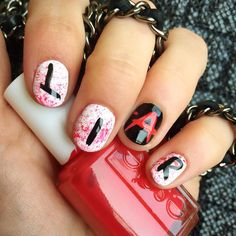 These nails would be super cute for Halloween, or for a PLL viewing party.