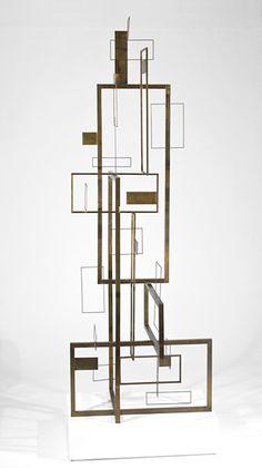 spacedbar: Sidney Gordin CONSTRUCTION, 1953Brass88 1/2 x 32 3/4 x 32 1/8 inches