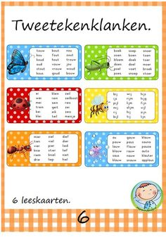 Enjoy reading with two-character sounds – Knippen Play To Learn, Learn To Read, Preschool Learning, Teaching, Afrikaans Language, Learn Dutch, School Checklist, Phonics Song, Free Handwriting