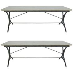 Pair of 19th Century Italian Iron Marble-Top Tables | See more antique and modern Tables at http://www.1stdibs.com/furniture/tables/tables