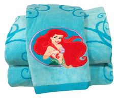 'The Little Mermaid' Beach Towel with Embroidered Appliqu Bath Towels Disney http://www.amazon.com/dp/B00JBIGRE0/ref=cm_sw_r_pi_dp_ztc2tb1Z9M0VDW69