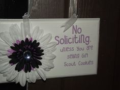 No Soliciting by Chelbies on Etsy, $15.00