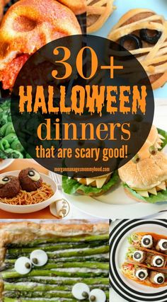 Kids Meals Halloween doesn't have to be all sweets and sugar - Halloween dinners are a fun way to celebrate the holiday before going out trick or treating. Get some real food into your kids before they gorge on candy with these Halloween meals. Halloween Desserts, Healthy Halloween, Halloween Food For Party, Halloween Meals, Diy Halloween, Halloween Recipe, Halloween Pizza, Fall Recipes, Real Food Recipes