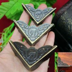 4 PCS Three-Sizes 404552mm Vintage Metal Bird Corner3 by Siberoom
