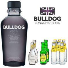 Pack Bulldog Gin con 10 tónicas variadas, regaliz, lima freca y snacks dulces y salados para acompañarlo! Delicioso!