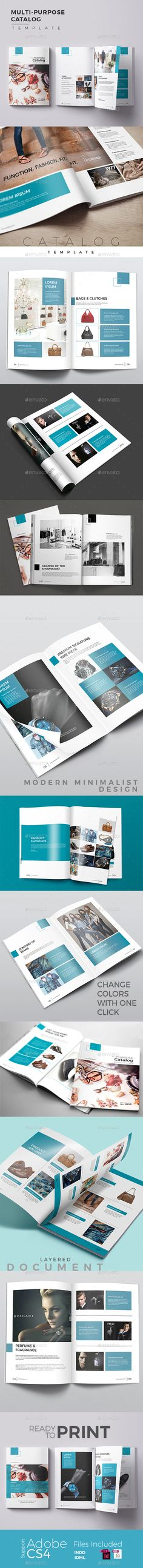 Multipurpose Catalog — InDesign INDD #photography #multipurpose • Available here → https://graphicriver.net/item/multipurpose-catalog/19452332?ref=pxcr
