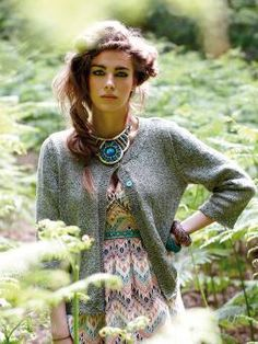 Spelt - Knit this womens flared cardigan from Simple Shapes Purelife Revive and Summerspun, designed by Sarah Hatton using the lovely yarn, Revive (...