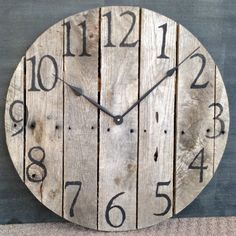 Large+Rustic+Pallet+Wood+Wall+Clock+by+TickTockCreations+on+Etsy,+$100.00
