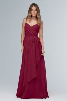 Wtoo Style 102 by Watters Bridesmaid Dress - Inna Chiffon - Take timeless to the next level in this modern, grecian-inspired gown of inna chiffon. An asymmetrical wrap skirt adds flirty interest to the flowy bottom of the gown. Classic Bridesmaids Dresses, Wedding Bridesmaid Dresses, Bridesmaid Ideas, Strapless Dress Formal, Formal Dresses, Evening Dresses, Prom Dresses, Handmade Dresses, Designer Dresses