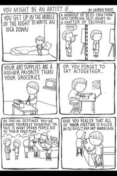 You know you're an artist when...