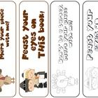 This file contains 2 Thanksgiving themed colored bookmarks and 2 Thanksgiving themed black and white bookmarks for your students to color....