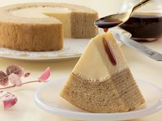 JAPANESE STYLE CONFECTION : PURIN BAUMKUCHEN / KIKUYA Baumkuchen is a kind of layered cake. It is a traditional dessert in many countries throughout Europe and is also a popular snack and dessert in Japan. Wikipedia