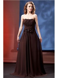 Charming Beaded Flowers A-Line Pleats Strapless Floor-Length Daria's Mother of the Bride Dress