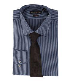 John Varvatos Regular Fit Fine Stripe Dress Shirt