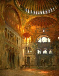 Interior of Hagia Sofia, 1891 John Singer Sargent